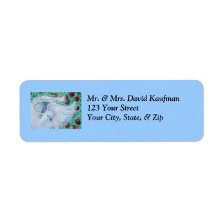Rosh Hashanah Shana Tova Dove with Apples Return Address Label
