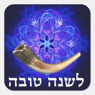 Rosh Hashanah Shofar Square Sticker