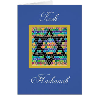 Rosh Hashanah-Star of David Mosaic Card