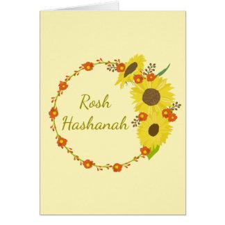Rosh Hashanah Sunflower Greeting Card