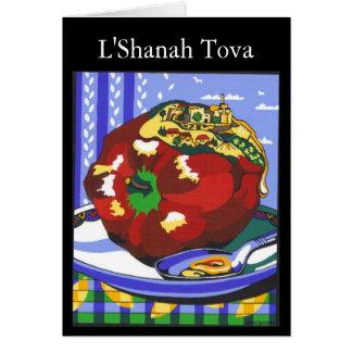 Rosh Hashannah Apple, L'Shanah Tova Card