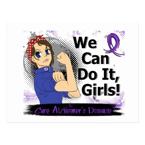 Rosie Anime WCDI Alzheimer's Disease Postcard