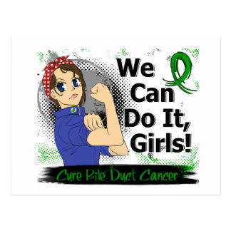 Rosie Anime WCDI Bile Duct Cancer Postcards