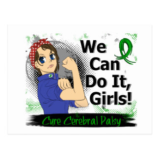 Rosie Anime WCDI Cerebral Palsy Postcard