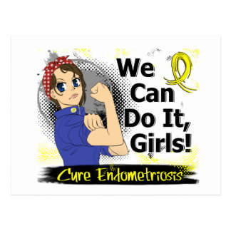 Rosie Anime WCDI Endometriosis Post Cards
