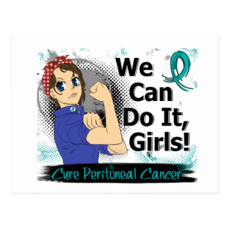 Rosie Anime WCDI Peritoneal Cancer Postcard