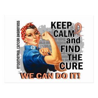 Rosie Keep Calm Endometrial Cancer.png Postcard
