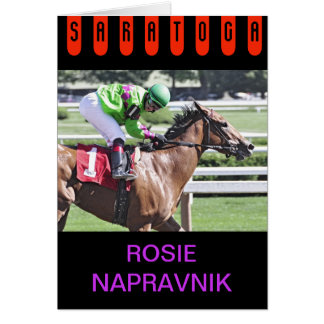 Rosie Napravnik at Saratoga Card
