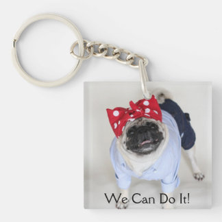Rosie Pug Riveter Key Chain