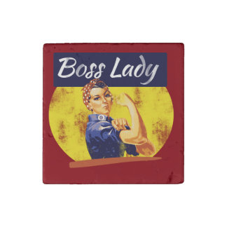 Rosie Riveter Boss Lady Stone Magnets