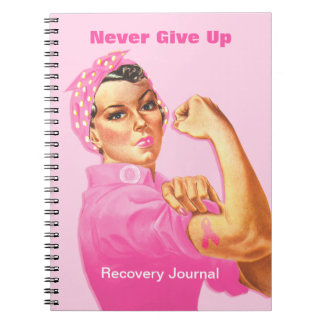 Rosie Riveter Custom Cancer Notebooks