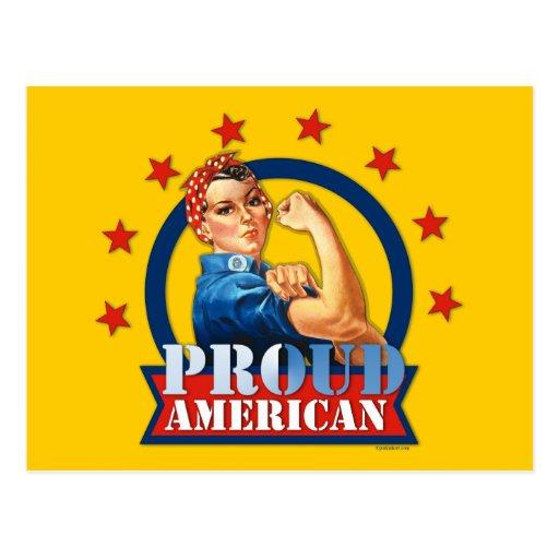Rosie Riveter Proud American Postcard