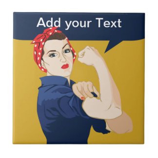 Rosie Riveter Strong Woman Tile