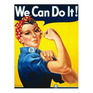 Rosie Riveter Vintage Propaganda Postcard