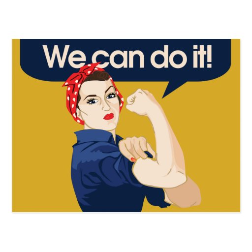 Rosie Riveter We can do it Postcards