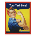 Rosie Riveter with Customize Text Poster