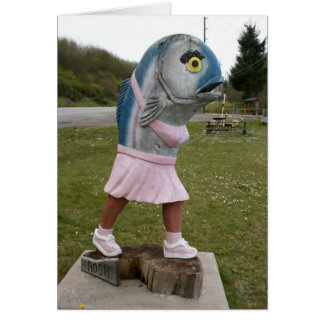 Rosie the Fish Woman Card
