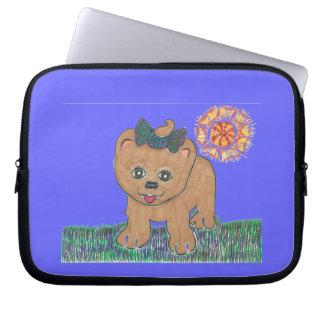 Rosie The Pomeranian Puppy Laptop Sleeve