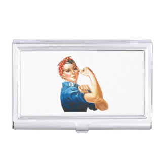 Rosie the Riveter Business Card Holder