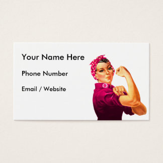 Rosie The Riveter - Cancer Pink Business Card