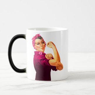 Rosie The Riveter - Cancer Pink Magic Mug