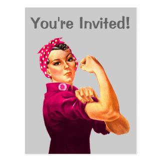 Rosie The Riveter - Cancer Pink Postcards