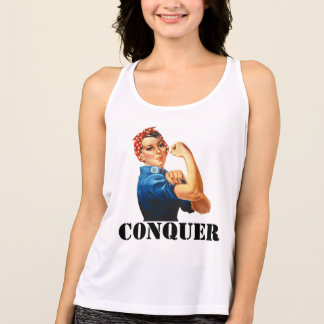 Rosie the Riveter Conquer Motivational Tank Top