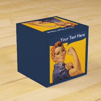 Rosie the Riveter Customize With Your Text Favor Box