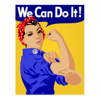 Rosie the Riveter graphic design Postcard