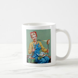 Rosie the Riveter Makes Toasted Cheese Classic White Coffee Mug
