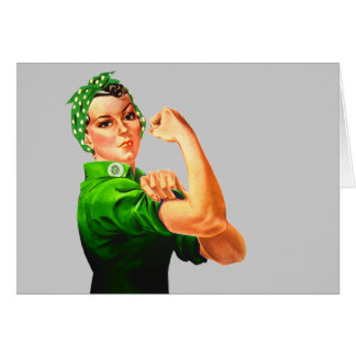 Rosie The Riveter - Military Support Greeting Card