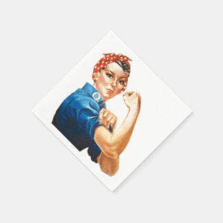 Rosie the Riveter Paper Napkin