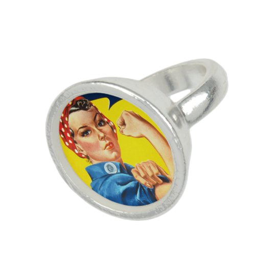 Rosie the Riveter Photo Ring