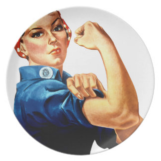 Rosie The Riveter Plate