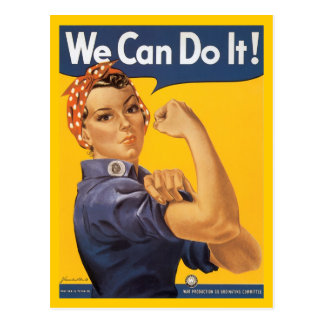 Rosie The Riveter Postcard