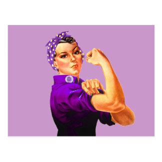 Rosie The Riveter - Purple Fibromyalgia Postcards