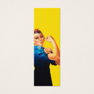 Rosie The Riveter Retro Design Style Mini Business Card