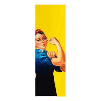 Rosie The Riveter Retro Design Style Pack Of Skinny Business Cards