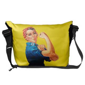 Rosie The Riveter Retro Style Icon Courier Bag