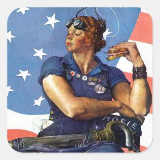 """Rosie the Riveter"" Square Sticker"