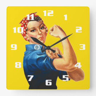 Rosie the Riveter Square Wall Clock