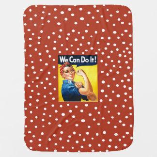 Rosie the Riveter Stroller Blanket