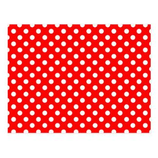 Rosie The Riveter Style Fashion Polka Dots Postcard