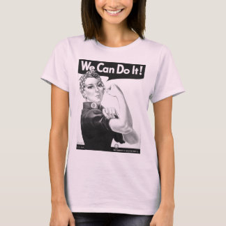Rosie the riveter t-shirt black and white