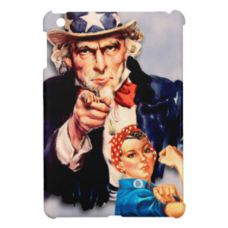Rosie the Riveter & Uncle Sam design Cover For The iPad Mini