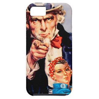 Rosie the Riveter & Uncle Sam design iPhone 5 Cases