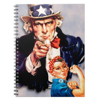 Rosie the Riveter & Uncle Sam design Notebook