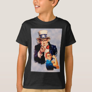 Rosie the Riveter & Uncle Sam design T-Shirt