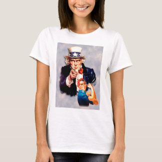 Rosie the Riveter & Uncle Sam design T-Shirt