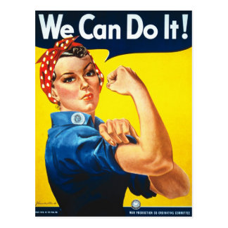 Rosie the Riveter Vintage image Postcard